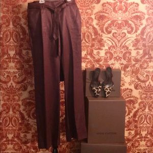 Escada Sport Chocolate Linen Pants NWT